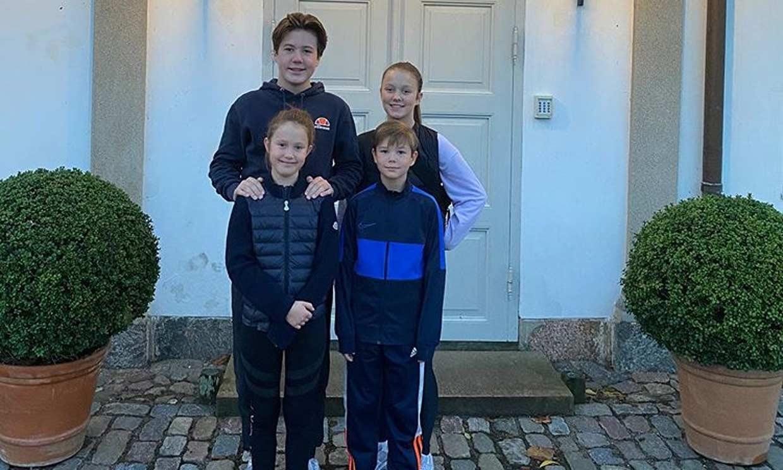 Con chándal y zapatillas: así celebran los hijos de Federico y Mary de Dinamarca las vacaciones