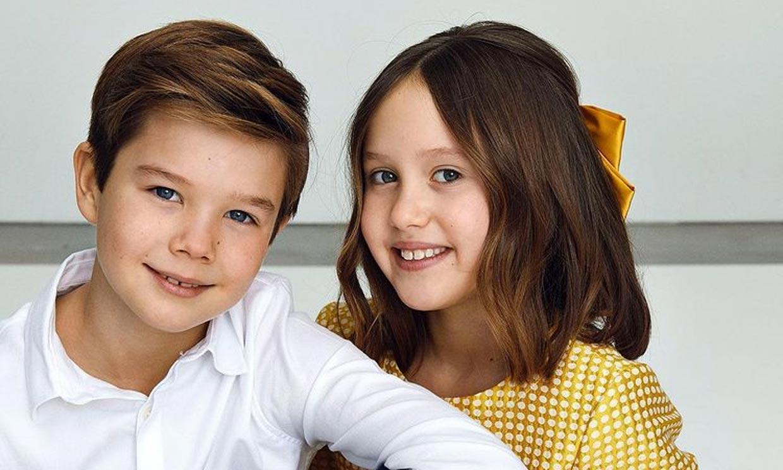 Vincent y Josephine, hijos de Federico y Mary de Dinamarca, pura espontaneidad en su cumpleaños