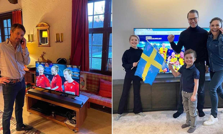 !Que gane el mejor! El divertido momento de Federico de Dinamarca y Victoria de Suecia en la final del Mundial de balonmano