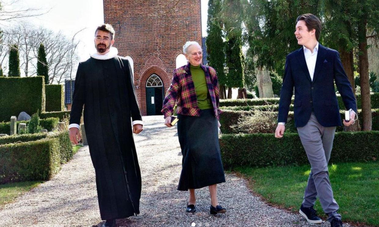 Christian de Dinamarca prepara con ilusión su confirmación arropado por su abuela, la reina Margarita