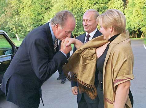 El Rey visita Moscú invitado personalmente por Putin