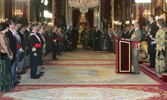 Los reyes presidieron la celebración de la Pascua Militar