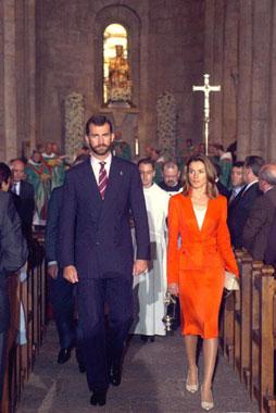Don Felipe vuelve a Viana sin la Princesa de Asturias