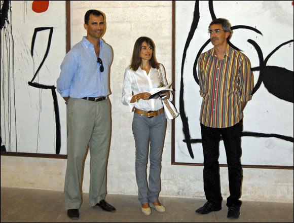Los Príncipes de Asturias visitan la Fundació Pilar i Joan Miró de Palma de Mallorca