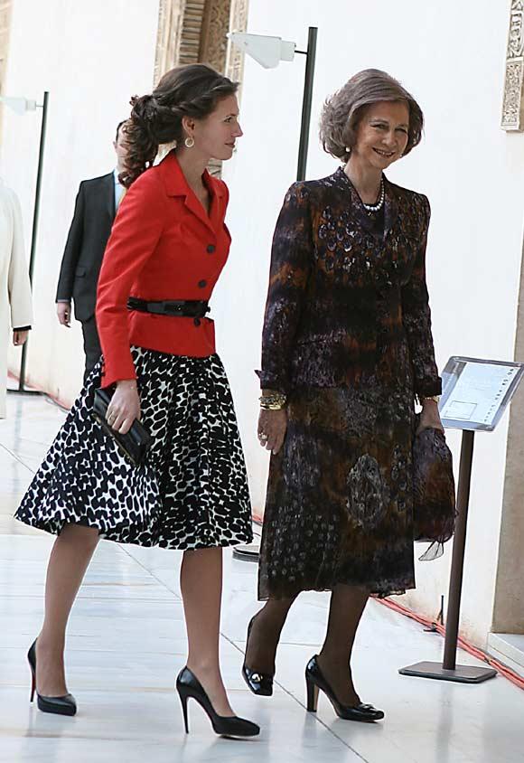 La reina Sofía y la Primera Dama de Siria, en Granada