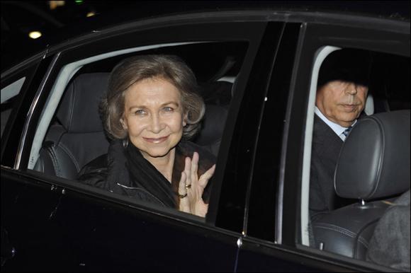 La reina Sofía visita a su nieto Miguel ingresado en la Clínica Teknon tras sufrir un leve accidente montando en bicicleta