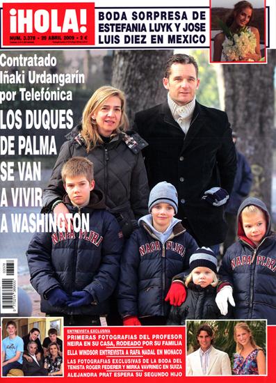 Contratado Iñaki Urdangarín por Telefónica, los Duques de Palma se van a vivir a Washington
