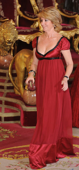 Histórica cena de gala en el Palacio Real
