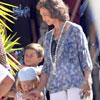 La reina Sofía se escapa a Palma antes de iniciar oficialmente su veraneo para ver a sus hijas y sus nietos