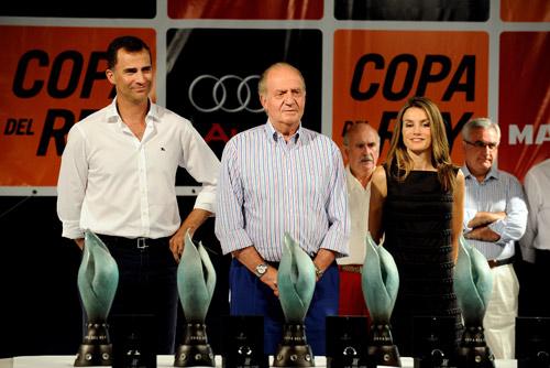 El rey y los Príncipes de Asturias presiden la entrega de los premios de la Copa del Rey de Vela