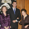 La Reina y el Príncipe de Asturias acompañan a la infanta Margarita a un concierto en homenaje a la reina Victoria Eugenia