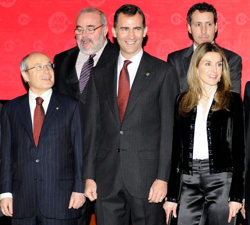 Los Príncipes de Asturias, seguidores de Josep Carreras por una buena causa