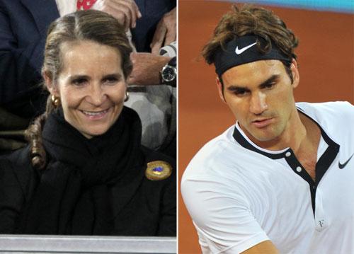 La infanta Elena, seguidora de Roger Federer en el Masters de Madrid