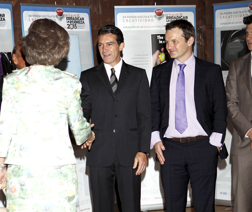 La reina Sofía, Antonio Banderas y Patricia Conde, unidos por una buena causa