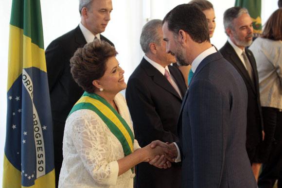 El príncipe Felipe comienza el año en Brasil, en la investidura de Dilma Rousseff