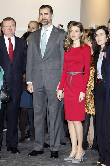 Los Príncipes de Asturias, con el arte contemporáneo