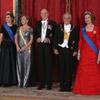 Los Reyes y los Príncipes de Asturias reciben con una cena de gala al presidente de Chile, Sebastián Piñera