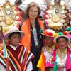 La reina Sofía se despide de Latinoamérica con una celebración llena de colorido y alegría