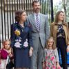 Las infantas Leonor y Sofía, protagonistas de la Misa de Pascua a la que asiste cada año la Familia Real en Mallorca