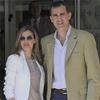 La Reina, los Príncipes de Asturias y la infanta Elena visitan al Rey en el Hospital San José de Madrid