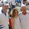 Los príncipes de Asturias felicitan a la tripulación del 'Bribón' por su triunfo en la Copa del Rey
