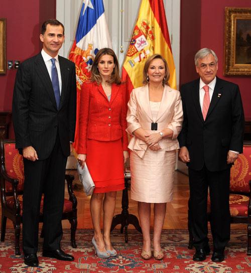 Los príncipes de Asturias olvidan el temblor con una apretada agenda en Chile