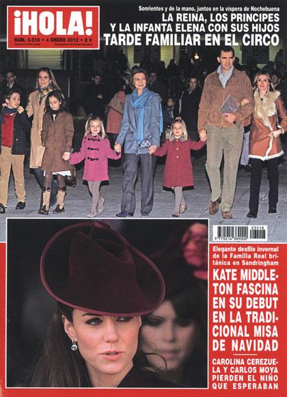 En ¡HOLA!: La reina, los príncipes y la infanta Elena con sus hijos, tarde familiar en el circo