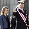 Los Reyes y los príncipes de Asturias presiden la tradicional Pascua Militar en el Palacio Real