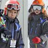 Los hijos de la infanta Elena, Felipe Juan Froilán y Victoria Federica, divertido fin de semana de esquí en Baqueira-Beret