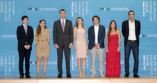 Príncipes de Asturias: visita de 2 días a Girona Principes-premios3--z