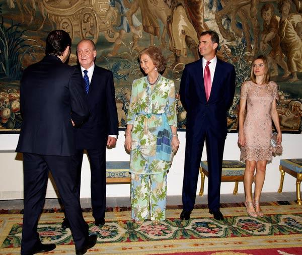 Los Reyes y los Príncipes de Asturias celebran la tradicional cena con las autoridades baleares