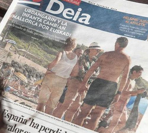 La infanta Cristina e Iñaki Urdangarín veranean en el País Vasco francés