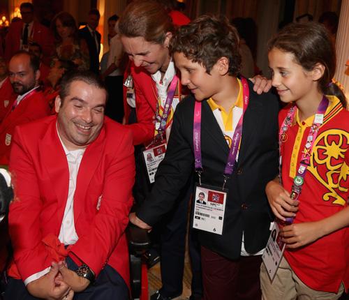 Felipe y Victoria de Marichalar acompañan a la infanta Elena a los Juegos Paralímpicos de Londres 2012
