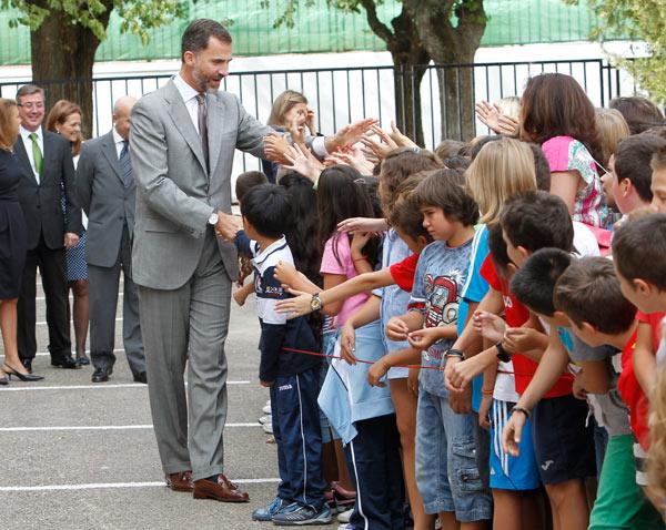 Felipe y Letizia Principes-curso-5-a