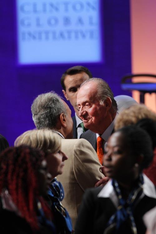 El Rey asiste a la 'Iniciativa Global Clinton' en Nueva York