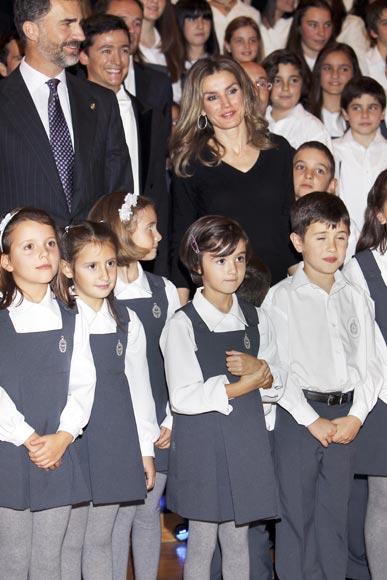 Los Príncipes de Asturias cierran su primera jornada en Oviedo con un concierto