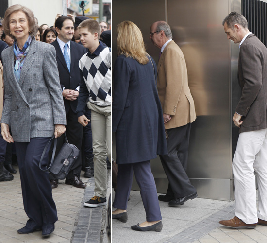 La Reina, los Príncipes de Asturias, la Infanta Elena y los Duques de Palma visitan al Rey: 'Hemos estado todos con él y le ha animado mucho'