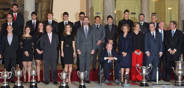 La Familia Real, una vez más con el deporte español