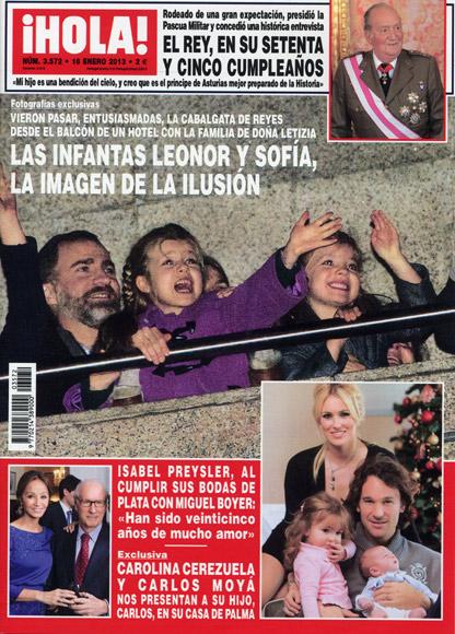 En ¡HOLA!: Las infantas Leonor y Sofía, la imagen de la ilusión
