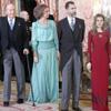 Los Reyes, acompañados por los Príncipes, presiden una recepción al Cuerpo Diplomático más austera y breve