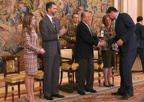 La Familia Real con la Selección de Balonmano