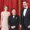 La princesa Letizia sucumbe a la moda de las trenzas durante la cena de gala celebrada en honor de Naruhito de Japón