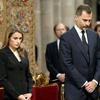 Los Príncipes de Asturias y la infanta Elena presiden el funeral por las víctimas de Santiago de Compostela