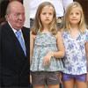 El Rey regresa a Madrid con sus nietas las infantas Leonor y Sofía