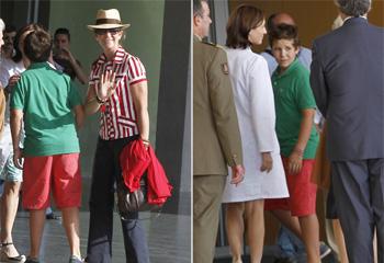 Felipe, hijo de la infanta Elena, el primero de los nietos en visitar a su abuelo