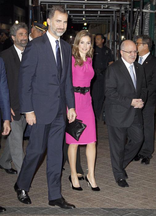 Entusiasta recibimiento a los Príncipes de Asturias en Florida: 'Vamos a tener que venir más'