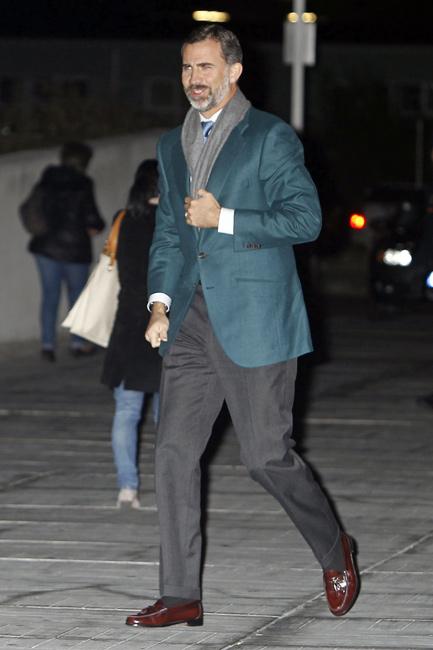 El príncipe Felipe: 'El Rey se encuentra con buen humor y con ánimo para recuperarse lo antes posible'