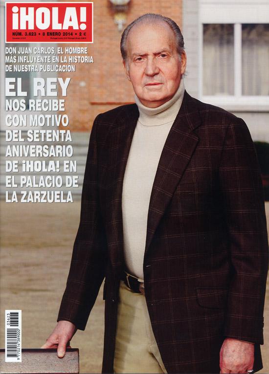 En ¡HOLA!: El Rey nos recibe con motivo del setenta aniversario de la revista en el palacio de la Zarzuela