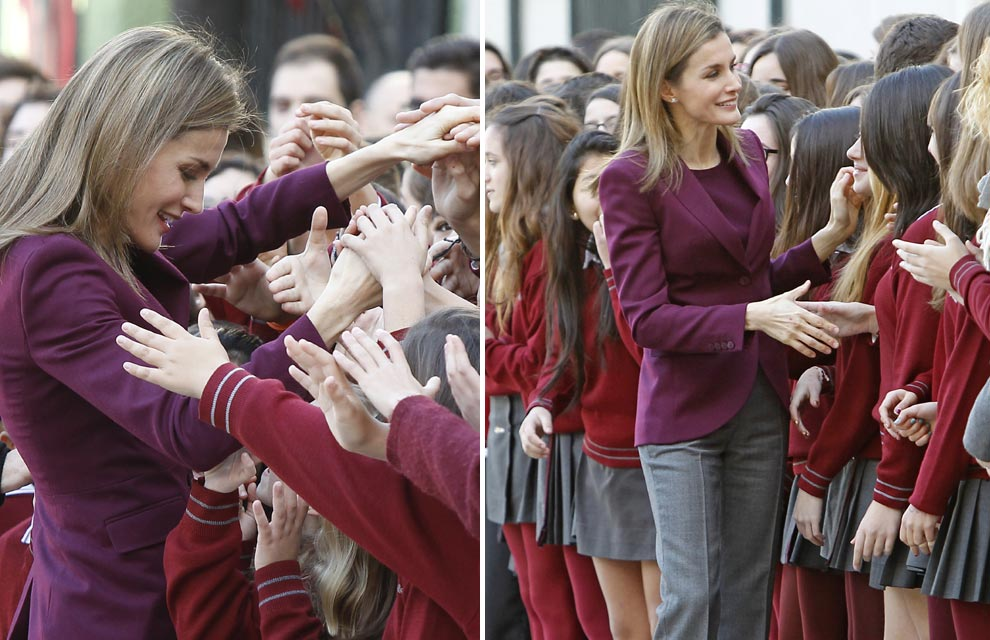 La princesa Letizia, una colegiala más en el I Congreso Escolar Internacional de Enfermedades Poco Frecuentes