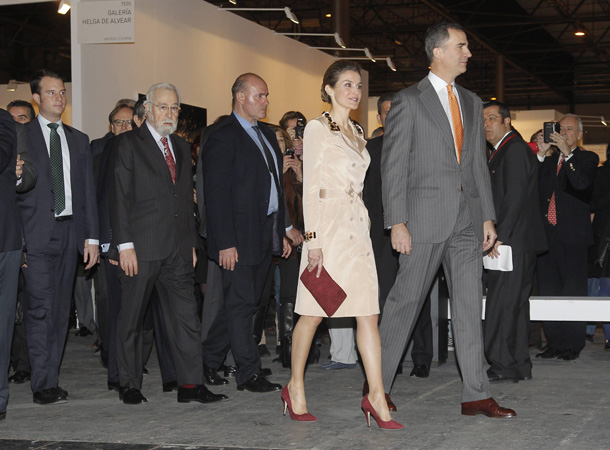El encuentro de los Príncipes de Asturias y Eugenia Martínez de Irujo en ARCOmadrid